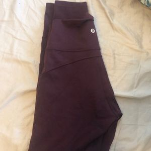 Lululemon in movement wine colored crops